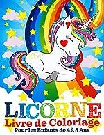 Licorne Livre de Coloriage Pour les Enfants de 4 à 8 Ans de Livres Hibou