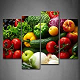 Colorful Various Vegetables Wall Art Painting Pictures Print On Canvas Food The Picture for Home Modern Decoration