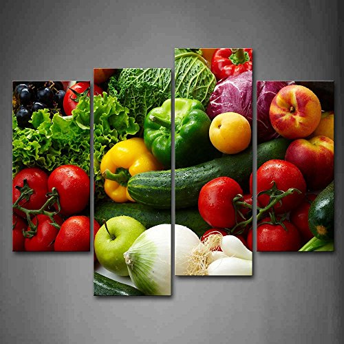 Colorful Various Vegetables Wall Art Painting Pictures...
