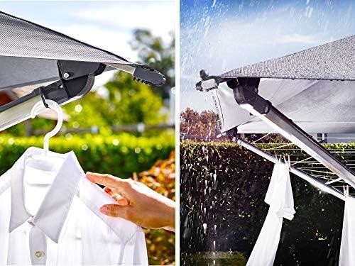 Leifheit Wäscheschirm TENDEDERO LINOPROTECT 400 1082100, Aluminio, Antracita, 220,5 x 80 x 60 cm