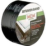 MEM Bitumen-Band, Selbstklebendes Dichtungsband, UV-beständige Schutzfolie, Stärke: 1,5 mm, Maße: 7,5 cm x 10 m, Farbe: Schwarz