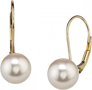 Best yellow gold pearl earrings Reviews