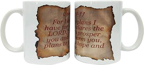 Vista Christian Coffee Mug - Wake with God Mug- I know the plans i have for you Bible Verse Mug
