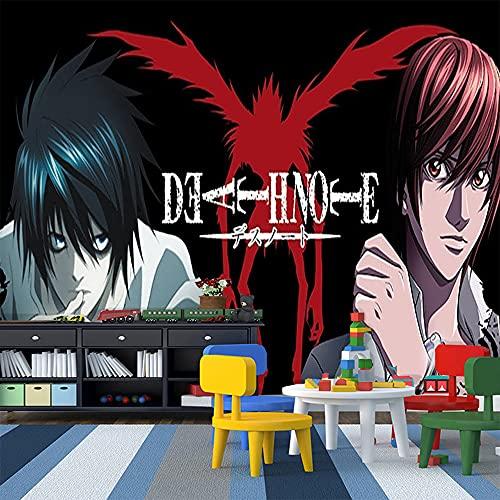 LUKIFU Death Note Mural Fond D'Écran Papier Peint Mural Chambre D'Enfants Dessin Animé Garçons Chambre Fond Mur Décoration Intérieure Murale-336x238cm