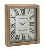 Deco 79 48542 Wood Wall Clock, 15 by 18'