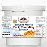 Pork Crackling BBQ Barbecue (500g ) Delicious Scratchings/Rinds Zero-Carb Keto Crisps in a