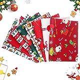 8Stück Baumwollstoff Weihnachten,Weihnachten Muster