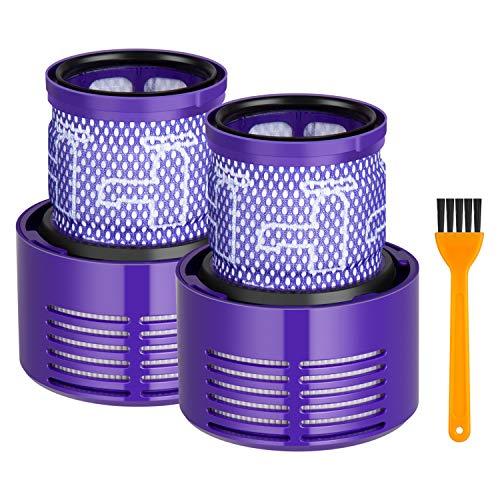 Maibahe Post Filter 2 Stücke für Dyson V10 Cyclone-Serie, V10 Absolute, V10 Tier, V10 Total Clean, SV12, Dyson Teile,969082-01 ersetzen (Bürste enthalten)