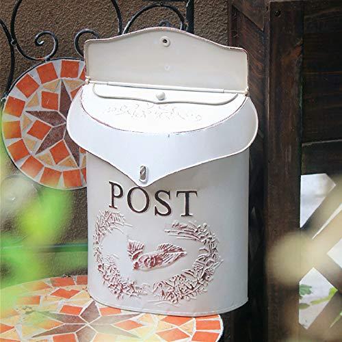 Cassetta Postale Decorativa in Ferro Battuto di Grande Ispirazione Shabby Chic Vintage, Decorazione...