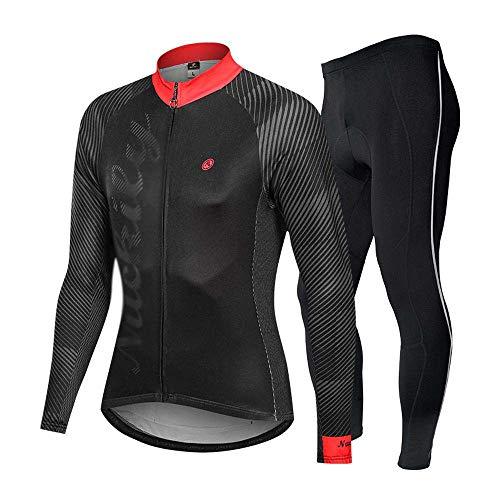 BEYONDTIME - Traje de ciclismo para hombre, de silicona, para exteriores, forro polar, para ciclismo, C-XL