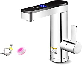 Instant Tankless Faucet Electric Water Heater Faucet Fast Heating Tap with LED Digital Display for Toilet Kitchen B.