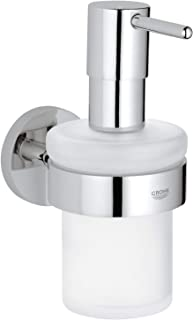 Grohe Essentials Soap Dispenser With Holder, Chrome, 40448001
