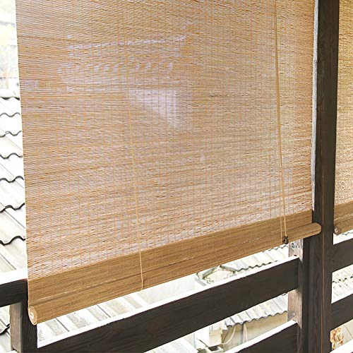 Bambusrollo Außenrollo für Veranda Pergola Balkon Hinterhof Terrasse, Außenjalousien Licht Filterblock 90% UV-Strahlen, 85cm / 105cm / 125cm / 145cm Breit (Size : 85×160cm)
