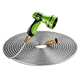 BEAULIFE New 304 Stainless Steel Metal Garden Hose with 8 Functions...