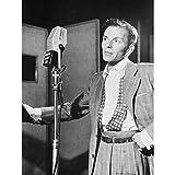 Vintage Portrait Blue Eyes Frank Sinatra Singer Art Print
