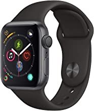 Apple Watch Series 4 (GPS, 40mm) - Space Gray Aluminium Case with Black Sport Band (Renewed)