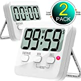 Kitchen Timer, Cbiumpro 2 Pack Digital Countdown Timers with Loud Alarm, Mute Mode