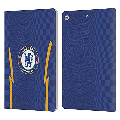 Head Case Designs Licenciado Oficialmente Chelsea Football Club Home 2021/22 Kit Carcasa de Cuero Tipo Libro Compatible con Apple iPad 10.2 (2019)/(2020)