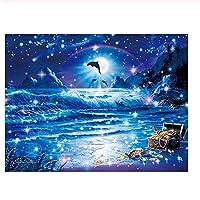 大人のためのジグソーパズル子供300ピースジグソーパズル星空の海の風景パズルに挑戦するパズルゲーム