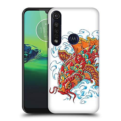 Officiële Bioworkz Sierlijke Koi Tattoo Gekleurde Sierlijke 3 Hard Back Case Compatibel voor Motorola Moto G8 Plus