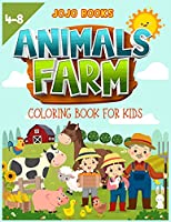Farm Animals coloring book for kids 4-8: A cute Activity book for boys and girls with adorable farm animals to learn while having fun!