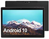 Tablet 10 Inch, 2021 Android 10 Tablet with 2GB RAM 32GB Storage, Dual Camera, Quad Core, HD IPS Touchscreen, WiFi, Bluetooth, GPS, GMS Certified - Black