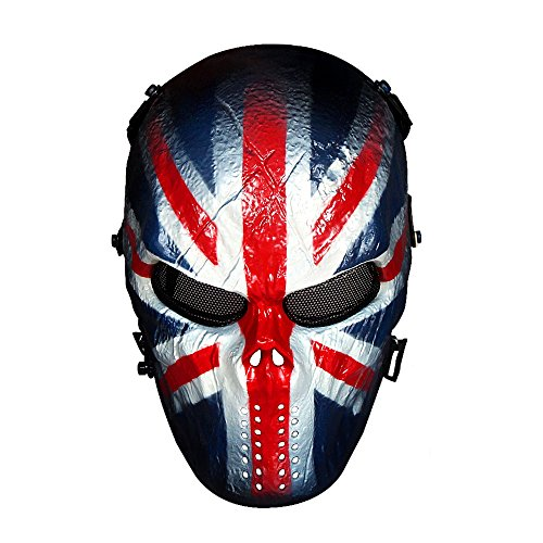 OutdoorMaster Airsoft Mask - Full Face Mask with Mesh Eye Protection...