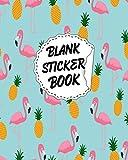 Blank Sticker Book: Flamingo theme / Blank Sticker Album Girl, Blank Sticker Collection Books, Sticker Album For Collecting Stickers… Vol 82