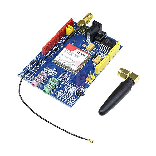 XHUENG SIM900 850/900/1800/1900 MHz GPRS gsm Shield Placa de Desarrollo Kit de módulo de Cuatro Bandas con Antena para Arduino GPIO PWM RTC