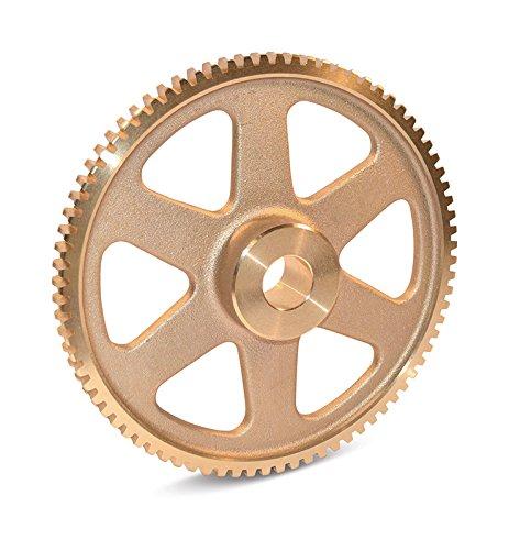 "Boston Gear D1145 Worm Gear, Spoke, 14.5 PA Pressure Angle, 0.375"" Bore, 25:1 Ratio, 50 TEETH, RH"