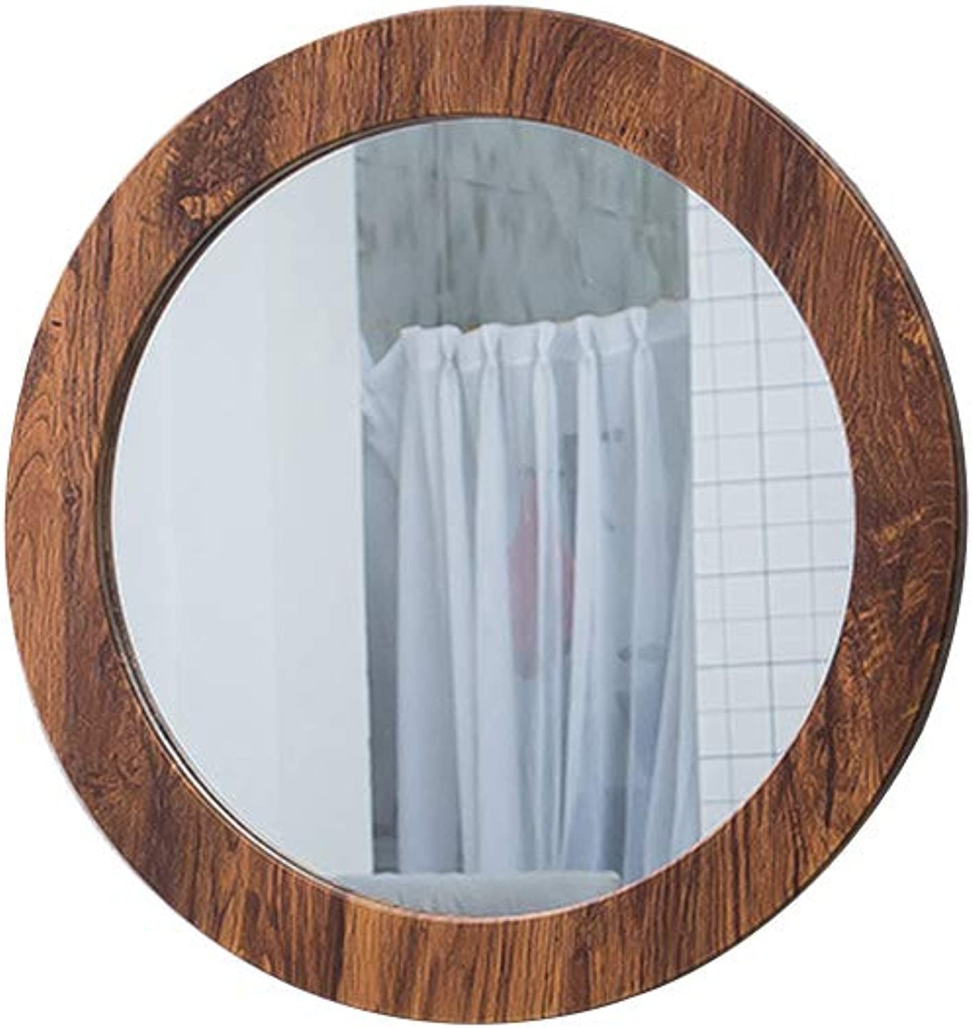 Bathroom Mirror Wall-Mounted Round Mirror Suitable for Bedroom Hotel Corridor with Border, Diameter 16 20 24 Inches
