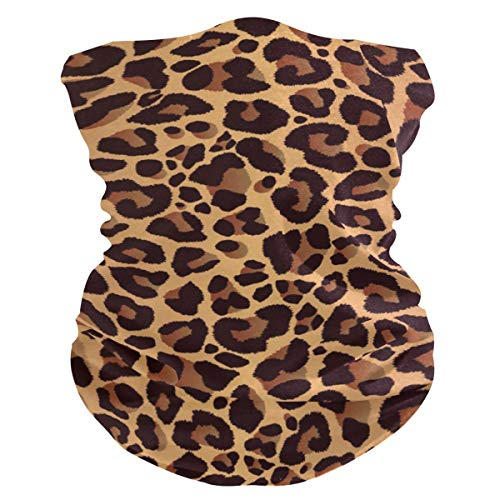 Naivey Face Mask Seamless Animal Skin Leopard Print Bandana Neck Gaiter Headband Scarf Balaclavas Women Men for Dust Wind Sun Protection