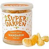 Supergarden Piezas de mandarina liofilizada - Producto 100% puro y natural - Apto para veganos - Sin azúcares, aditivos artificiales ni conservantes añadidos - Sin gluten - No OMG