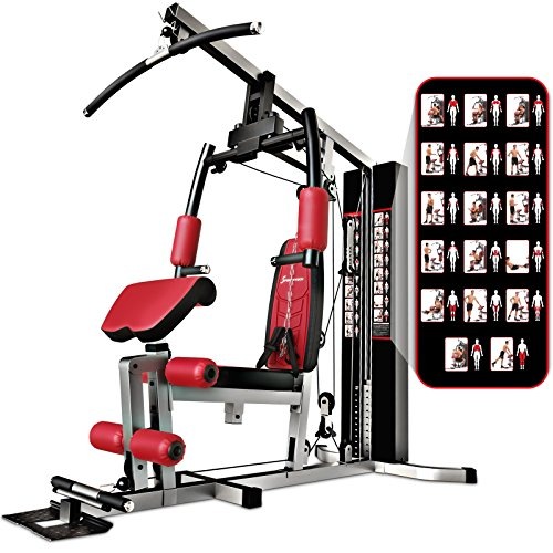Sportstech Premium 50in1 Multi Gym for a ONE Allround Training | Multifunctional Workout Station | Stepper & LAT Pulling Tower | HGX Fitness Station | Eva material | Extremely Sturdy (HGX100)
