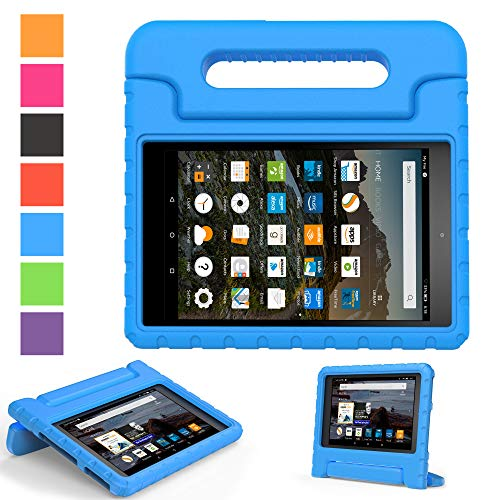 2019 Fire 7 inch case- Kids Shock Proof Convertible Handle Light Weight Super Protective Stand Cover for Amazon Fire Tablet (7' Display -Universal 2015 Fire 7 inch )(2017 2015 Fire 7', Blue)