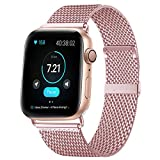 KOUUNN Compatible for Apple Watch Band 38mm 40mm, Stainless Steel Mesh Sport Wristb