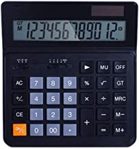 $33 » Multifunctional Calculator 12-Digit Solar Battery Basic Calculator, Solar Battery Dual Power Office Calculator with Large ...