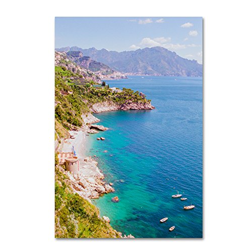 Amalfi Coast by Ariane Moshayedi, 30x47-Inch Canvas Wall Art