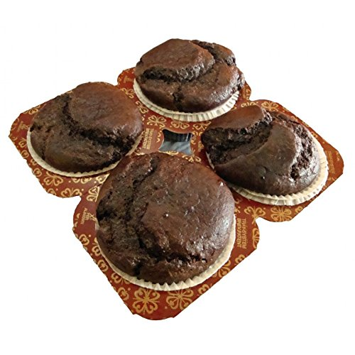 New & Improved! Low Carb Chocolate Muffins (4 Pack) - Fresh Baked - LC Foods - All Natural - Gluten Free - No Sugar - Diabetic Friendly