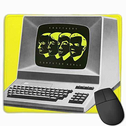 GFFD Alfombrilla de ratón Kraftwerk Computer World para Trabajar y Jugar Alfombrilla de ratón Anime para Oficina y hogar