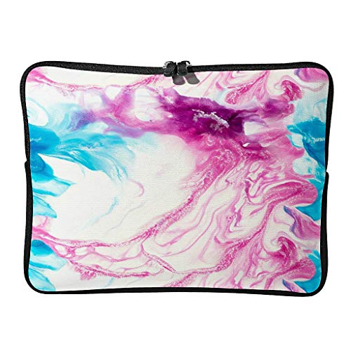 Bolsa para portátil con textura de mármol, resistente al desgaste, diseño abstracto, adecuado para interiores y exteriores.