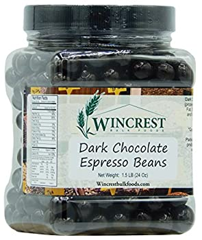 Chocolate Espresso Beans - 1.5 Lb Tub  Dark Chocolate