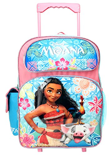 "Disney Moana 16"" inches Rolling Large Backpack - New with Tags"