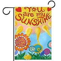 庭の旗芝生の装飾庭の装飾屋外の農家の装飾ホオジロ旗あなたは私の日差しです 両面バナー