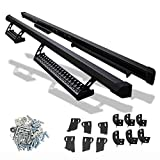 Nerf Bar Compatible With 2007-2018 Toyota Tundra Double Cab, Side Step Bar Running Boards Black by IKON MOTORSPORTS, 2008 2009 2010 2011 2012 2013 2014 2015 2016 2017