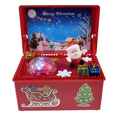 Ooreforde Carillon Elettrico Babbo Natale Giocattoli Carillon Altalena Bambola Con Luce Decorazione Natale Per Bambini, Red, 170.00 * 110.00 * 80.00Mm