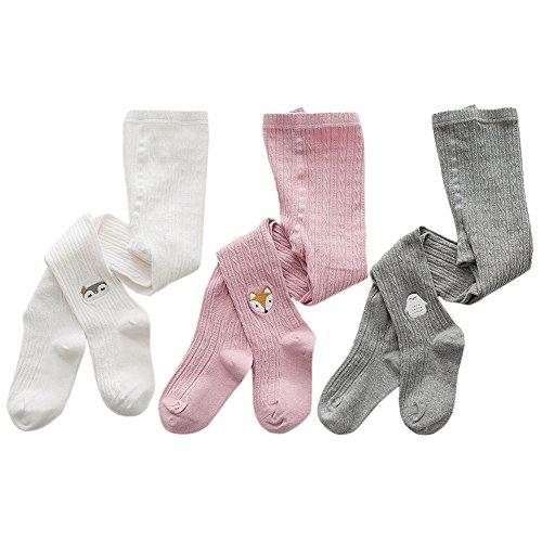 XPX Garment Animal Lindo 3 Pares de Algodón Medias para Bebé Niña 1-8 años