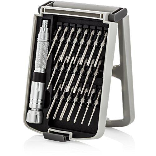 deleyCON Destornillador Set de 23 Piezas Puntas Magnéticas para el Destornillador Herramienta para Teléfonos Inteligentes Tabletas Relojes Gafas Herramienta de Precisión