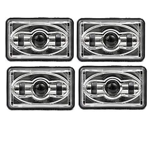 Eagle Lights 4600 Series 4 x 6 (100mm x 165mm) 2A1 Low Beam and 1A1 High Beam LED Headlights - 4 Pack (H4651 H4652 H4656 H4666 H6545)