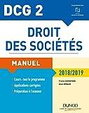 DCG 2 - Droit des sociétés 2018/2019 - Manuel - Manuel (2018-2019)